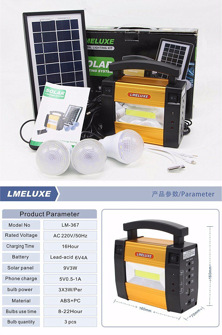 New Product Solar Outdoor Light with 3 PCS LED Bulb