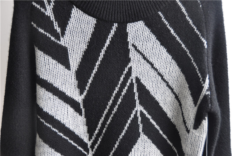 Winter Men Long Sleeve Patterned Knitted Sweaters