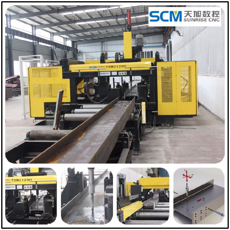 Tswz1250 H Beam Drilling Machine for Steel Fabrication