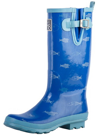 Fashion New Style Ladies Rubber Rain Boots (68053)