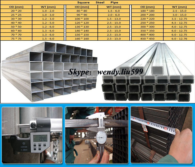 Cold Formed ERW Square Metal Pipe and Tube