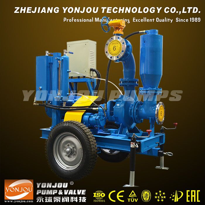 Dewatering Pump, Vacuum Assist Dry Run Self Priming Pump