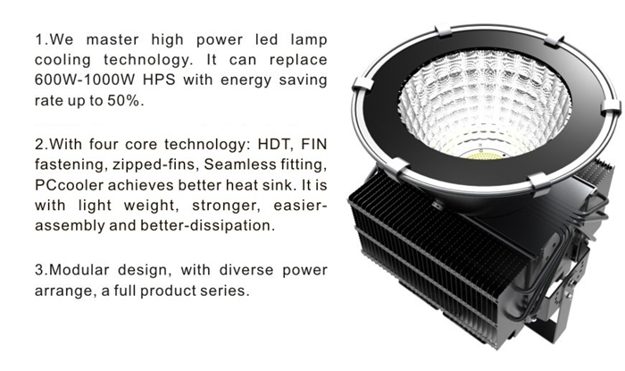 High Power 500W 400W 300W 200W Stadium LED Spotlight