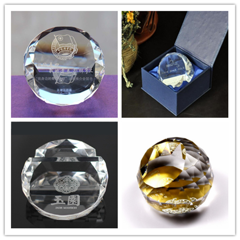 Promtoion Customizable Logo Printed Crystal Paperweight