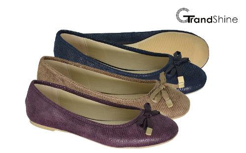 Women's PU Flat Casual Ballet Shoes