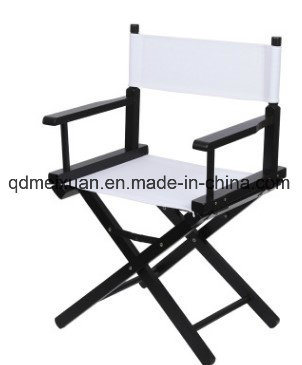 Short Cross Director Chair Contemporary and Contracted Folding Chairs, Leisure Fishing Chair Canvas Wooden Chair (M-X3829)