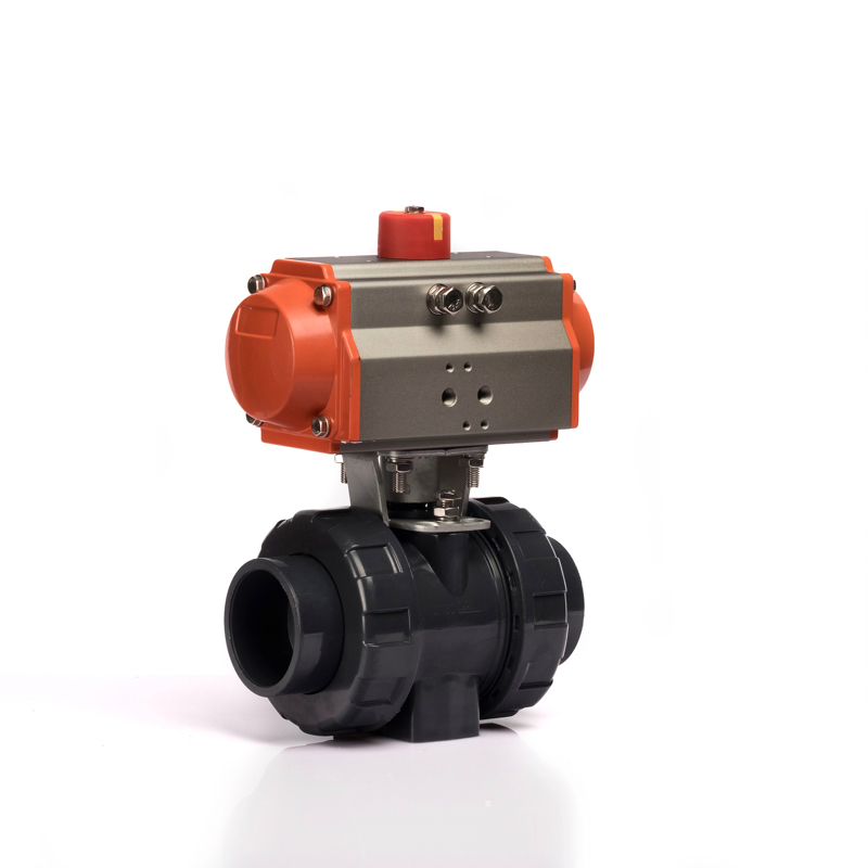 Klqd Brand Dn15 Pneumatic Actuator Controlled Q691 Series PVC Ball Valve