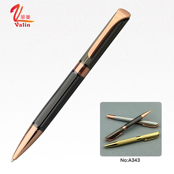 Fashion Design Laser Engraving Ball Pen Luxury Office Stationery Pen on Sell