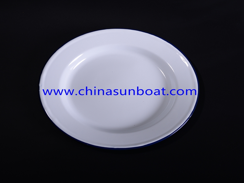 Enamel Round Food Tray for Daily Use/Restaurant/Hotel