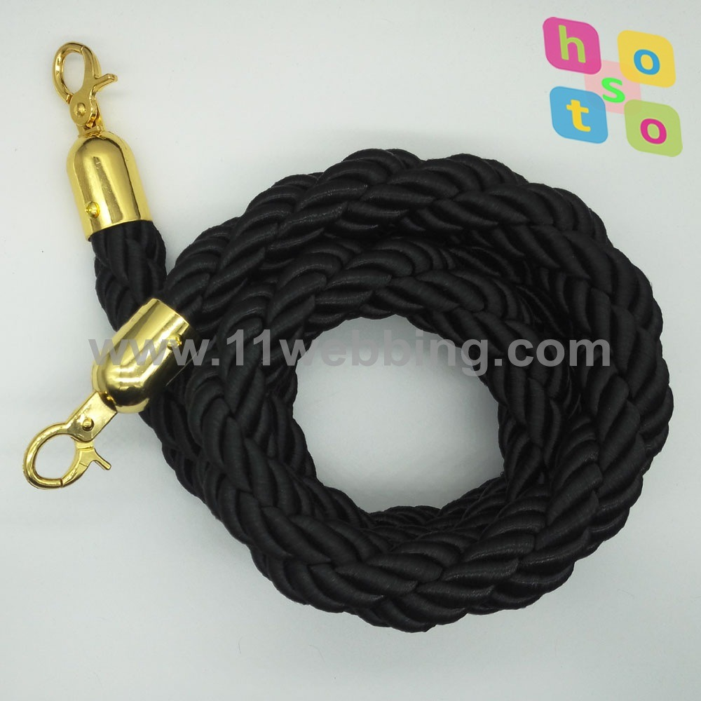 Queue Barrier Velvet Rope/Twist Rope for Hotel Stanchions Rope
