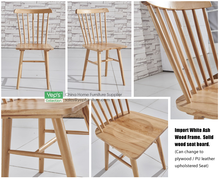 High Back Solid Wood Plywood Dining Windsor Chair