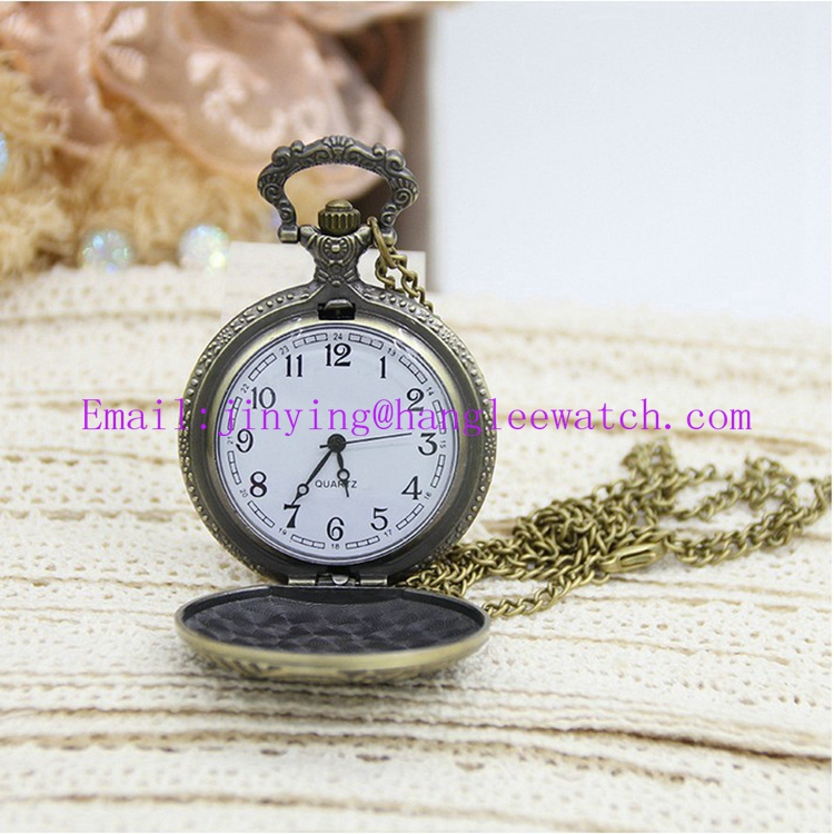 OEM Retro Watch Gift Necklace Large Owl Watch Pocket Watch