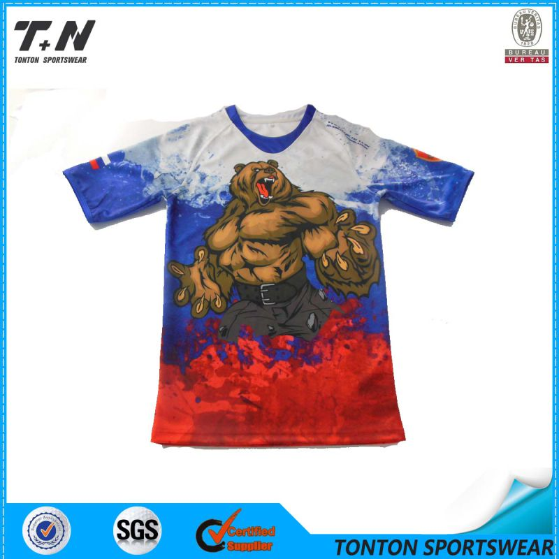 Custom Men's Full Printing Dry Fit T Shirt