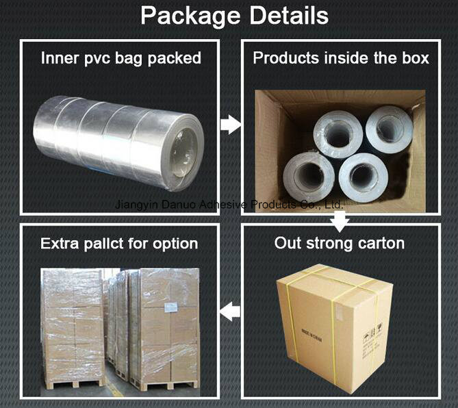 Rubber Adhesive Aluminum Foil Duct Tape with Liner