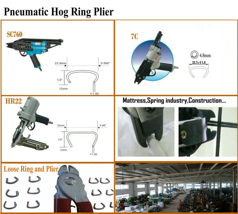 Galvanized Pneumatic Hog Ring / C-Ring