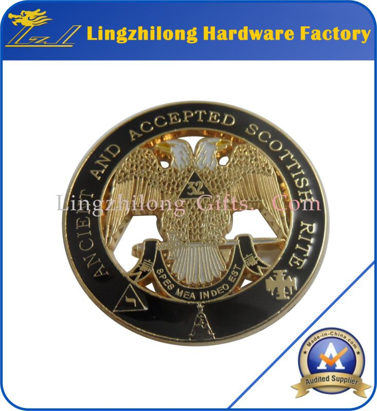 Metal Material in Stock Masonic Lodge Pin