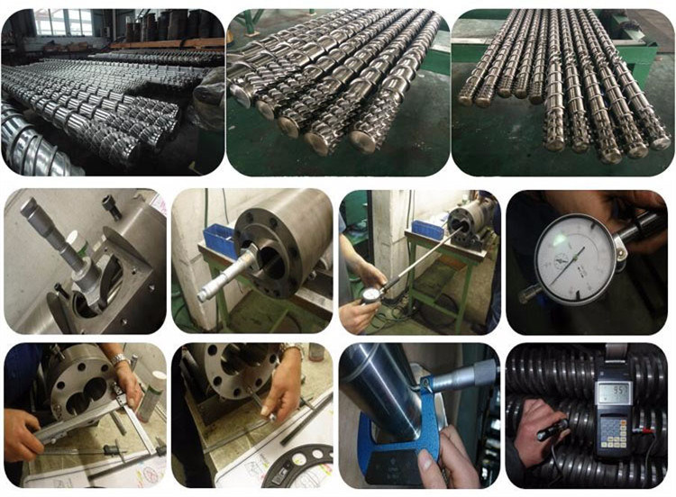 Plastic Extruder Nitrided Parallel Twin Screw and Barrel