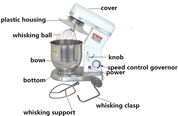 Iron Shell Kitchen Stand Egg Mixer for Sale