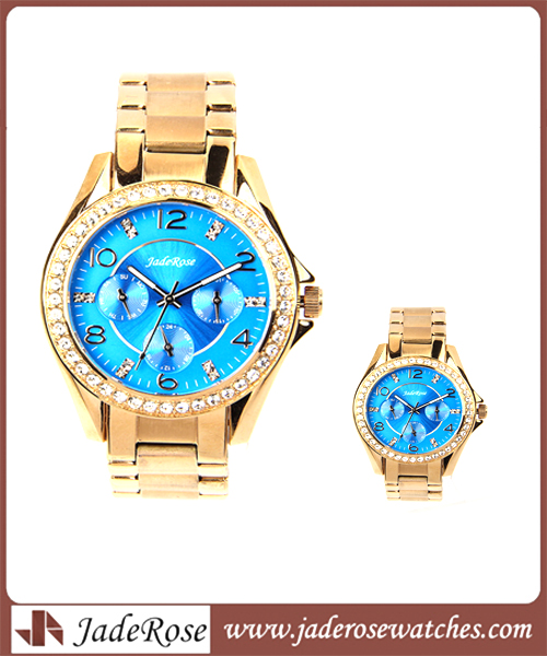 Rose Gold Quartz and Waterproof Men's Watch with Alloy