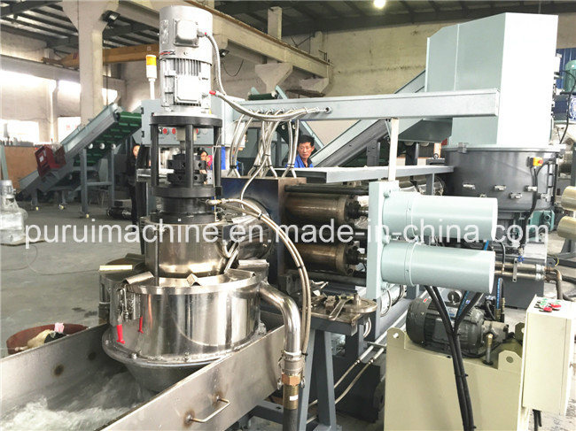 Plastic Granulator Recycling System for LDPE Film Pelletizing