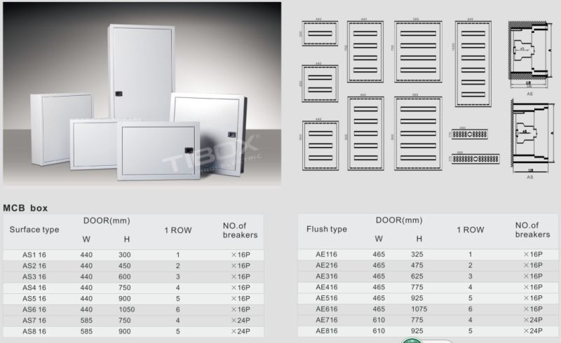 IP66 MCB Waterproof Distribution Box-Surface/Flush Type