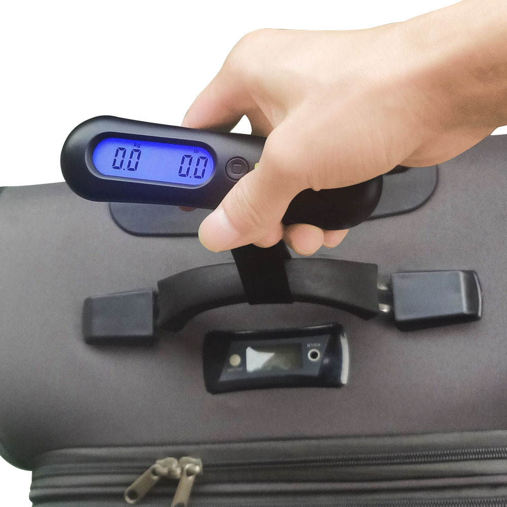50kg Weight Portable Electronic Travel Hanging Luggage Weighing Scale