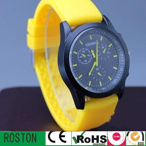 Silicon Strap Quartz Movement Promotion Watches