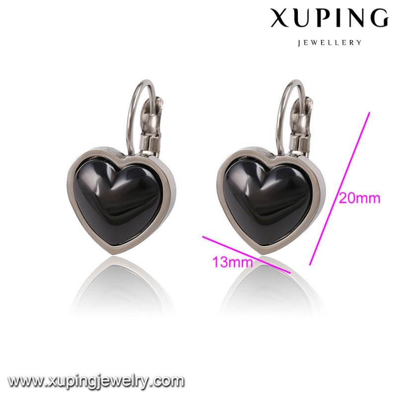 91782 Fashion Elegant Ceramic Heart-Shaped Jewelry Earring Clip