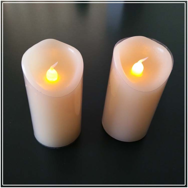 Flameless Led Wax Pillar Candles