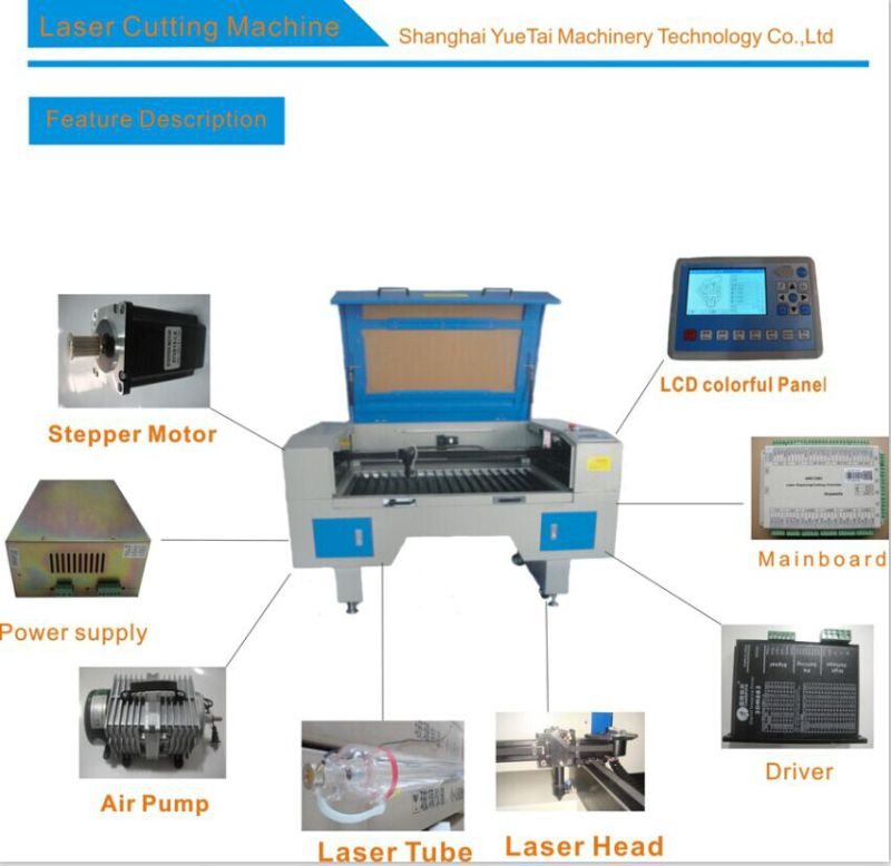 Laser Machine 900*600mm/1200*800mm/1400*900mm/1600*1200mm From 60W to 180W All Available