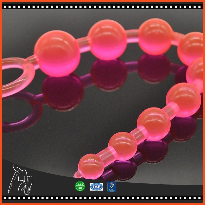 No Toxic Sex Toy Waterproof 10-Ball Anal Beads Butt Plug Anal Sex Toys Color Random Anal Beads