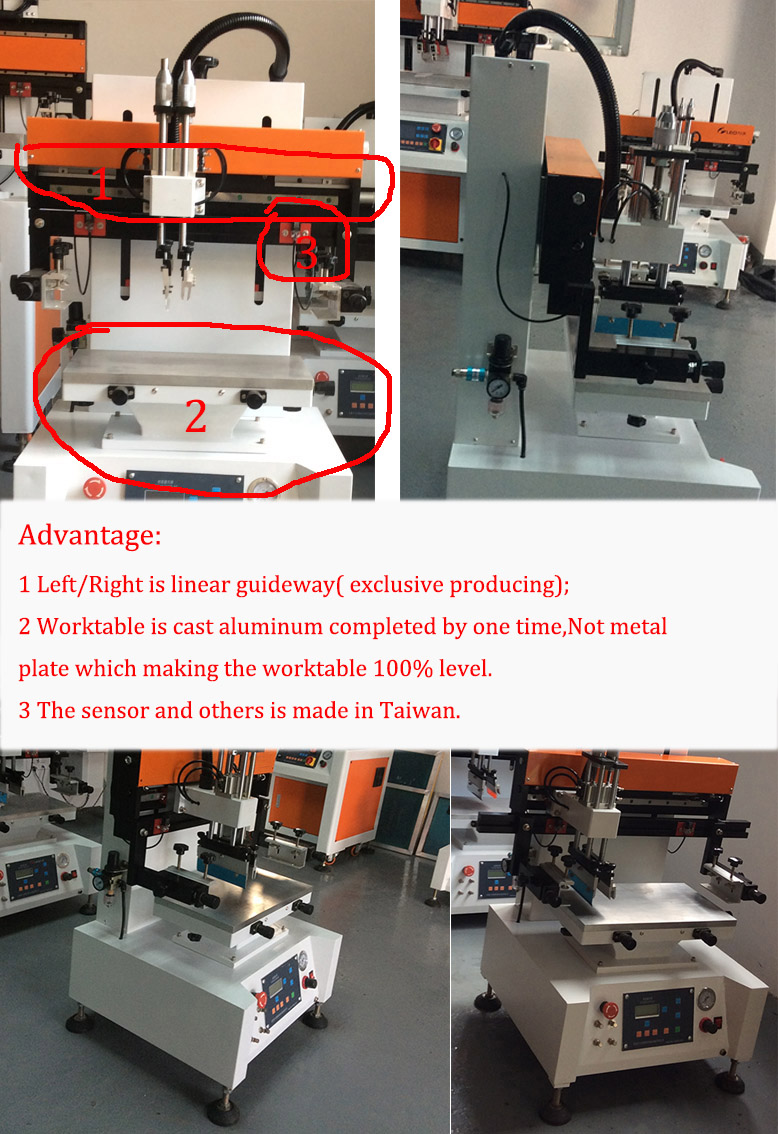 Silicon Credit Card Holder Automatic Silk Screen Printer/ Tabletop Screen Printing Machine