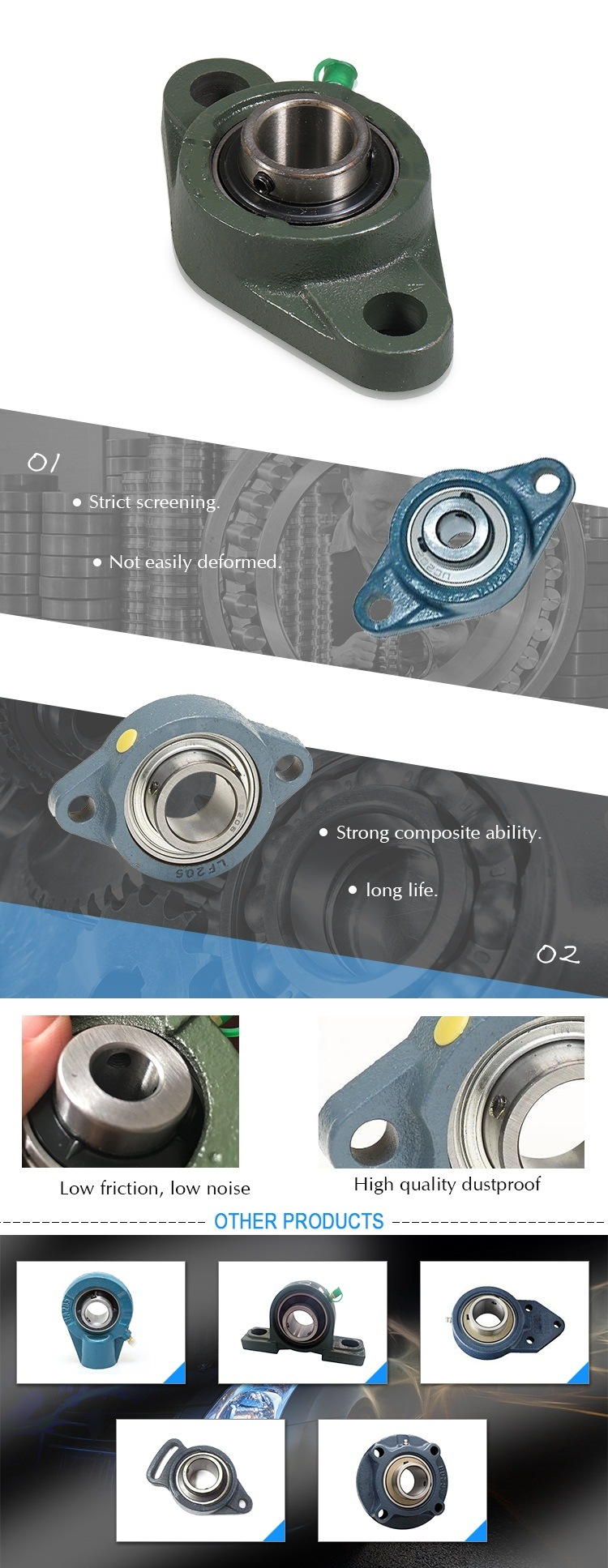 Supplier of Ball Bearings and Housing UCFL218
