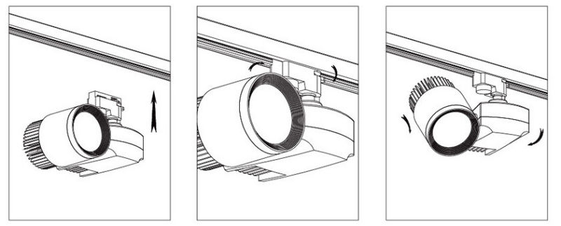 Ra90 CREE Epistar Citizen Dimmable COB LED Track Spotlighting