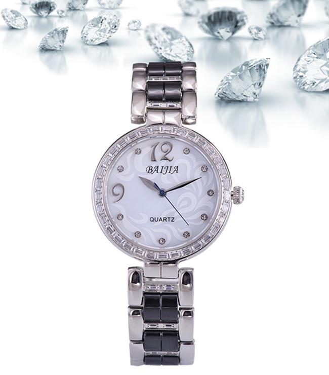 Water Resisting Fashion Diamond Ceramic Ladies Quarts Watch