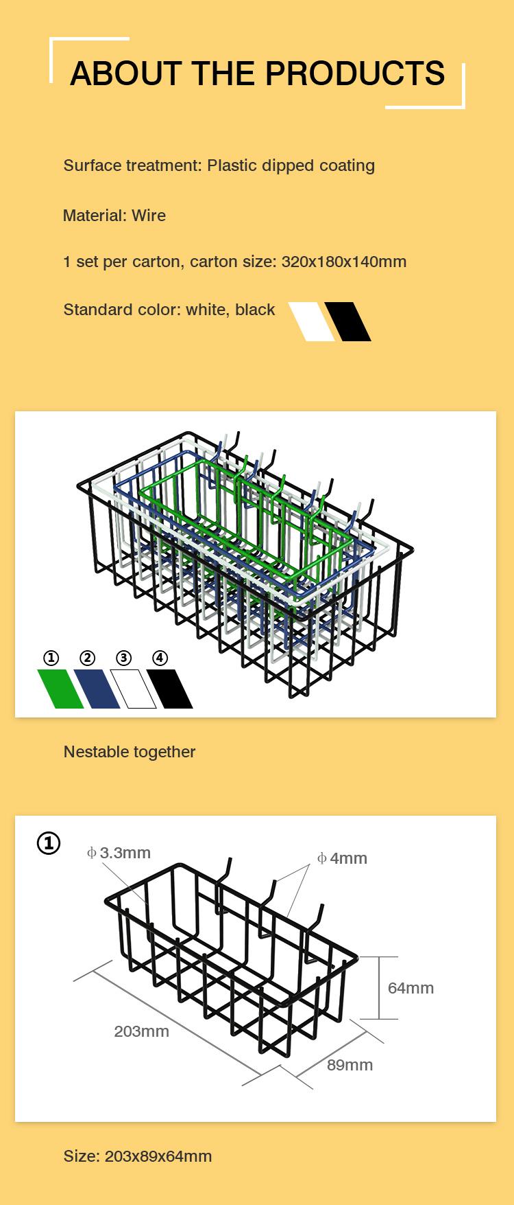 Hot Design Supermarket Gondola Display Shelf Basket