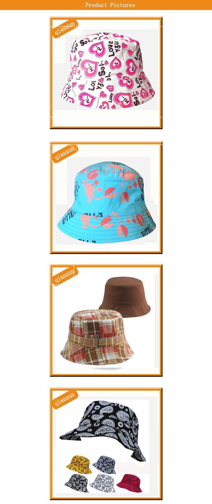 Custom Design Big Brim Fishing Bucket Hat