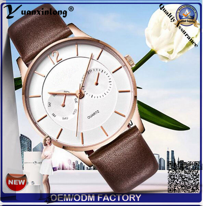 Yxl-559 Ultra Slim High Quality 5 Hands Business Man Watch, Watch Looks Luxury, 3 ATM Stainless Steel Watch