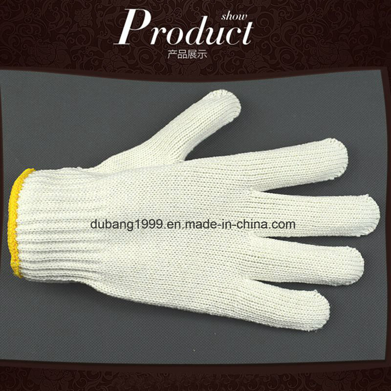 2015 Hot Sale Knitted Cotton Gloves, Polycotton Gloves, Good Quality, Work Gloves,