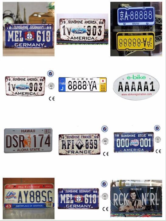 Custom Decorative Car Plate with Reflective Material/Car Plates/DIY Decorative Car Plates