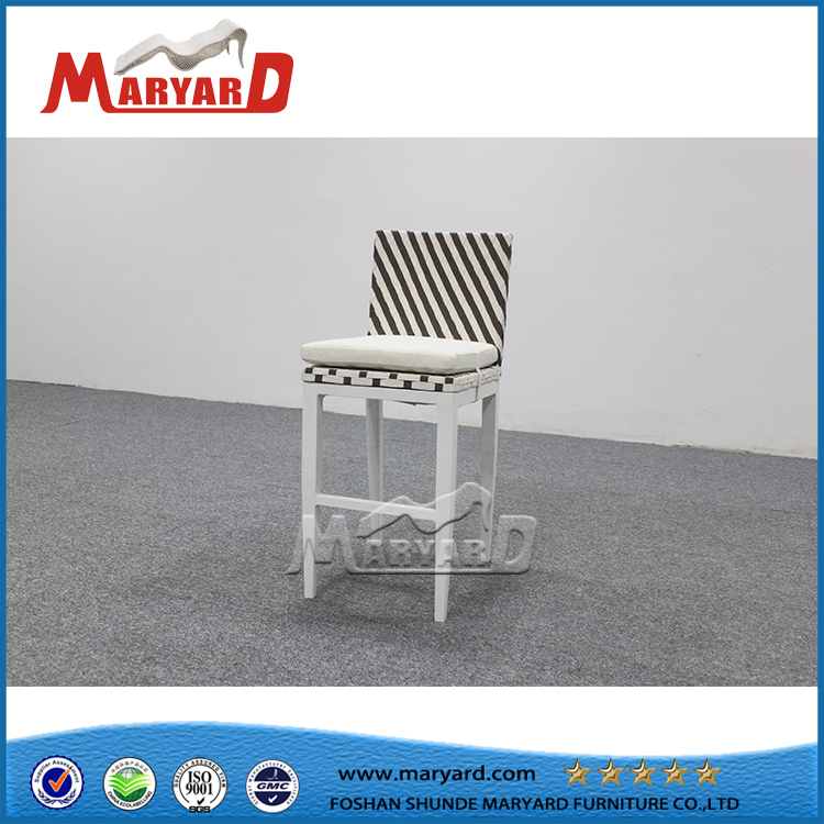 Modern Outdoor Wicker Rattan High Bar Chair with Backs