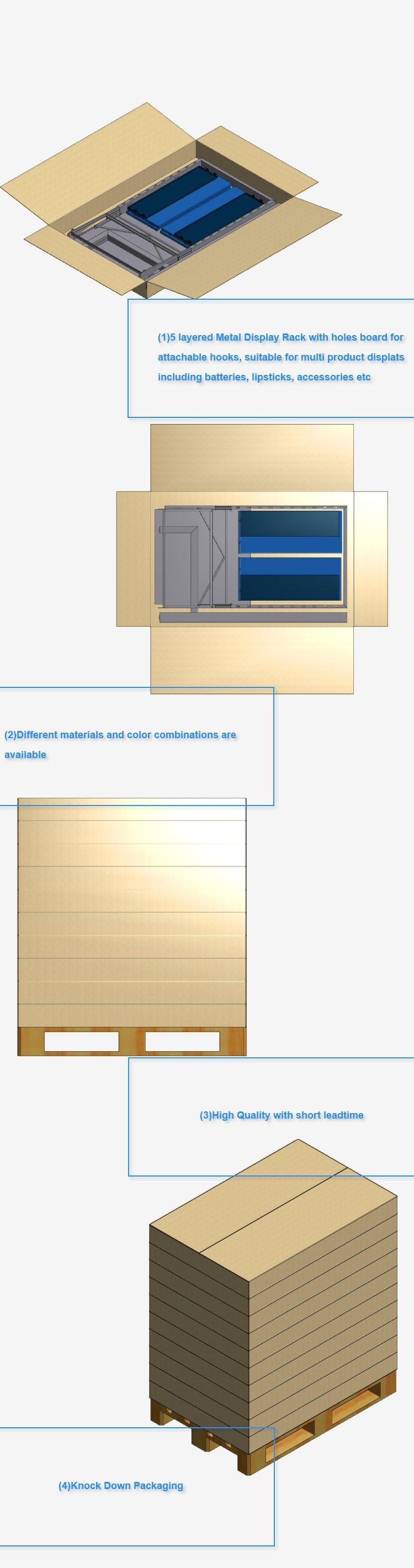 Steel Wire Mesh Floor Galvanized Wire Mesh Panel Display Stand