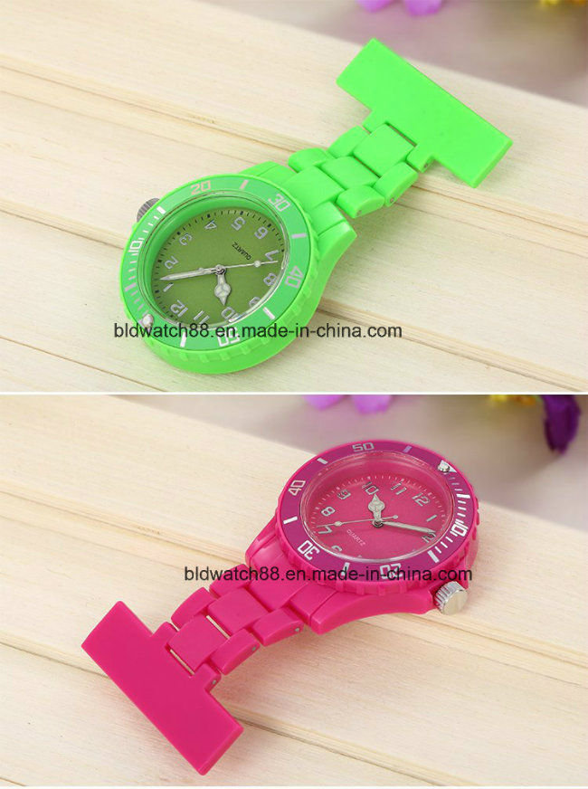 Best Stainless Steel Nurses Brooch Pin Watch with Japan Movt
