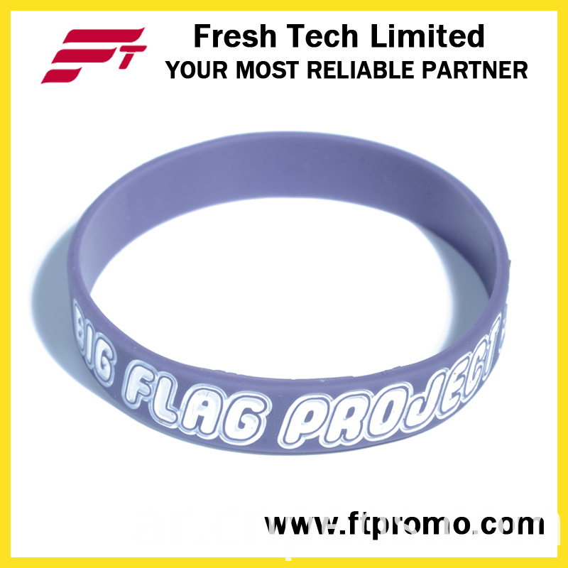 High Quality Custom Debossed/Embssed/Print Silicone Wristband