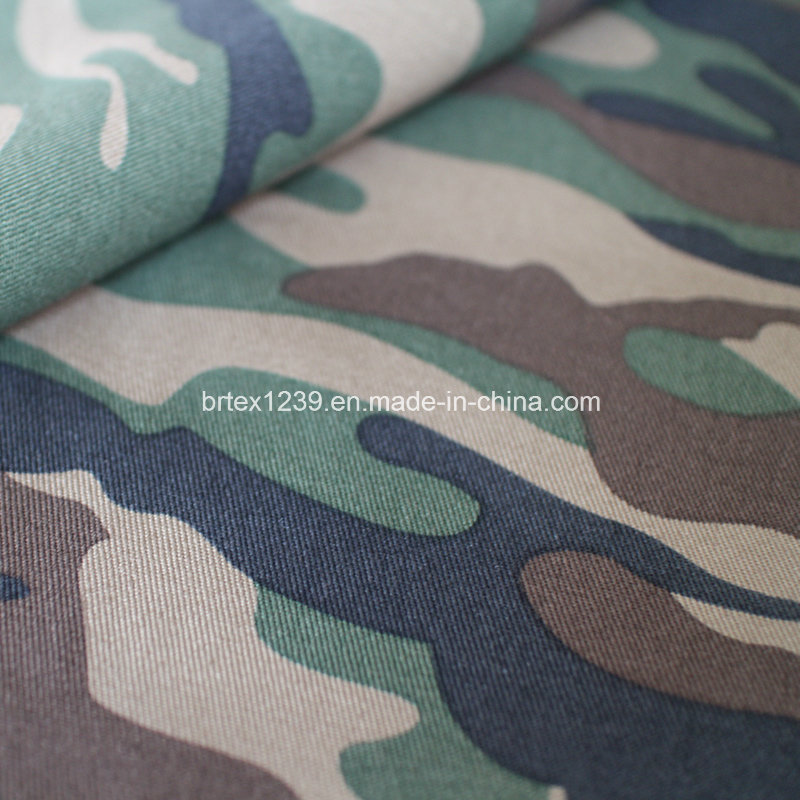 Cotton Camouflage Fabric for Shirting Use (80X80/190X120)