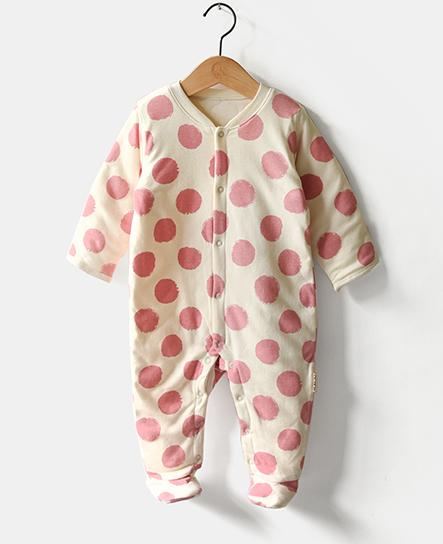 Winter Organic Cotton Romper with DOT Design Wholesale in China