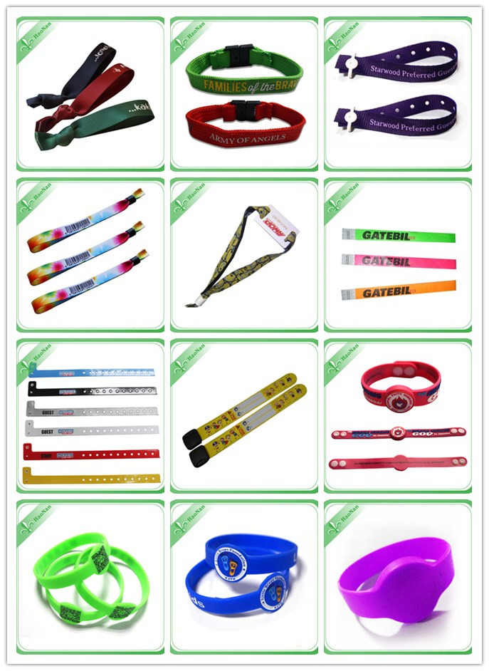Festival Custom Sublimation Printing Wristband with Barcode
