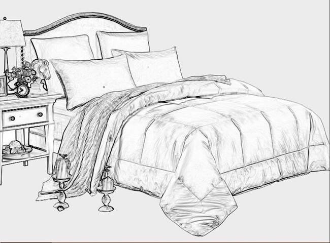 White Plain Bed Linen (WS-2016338)
