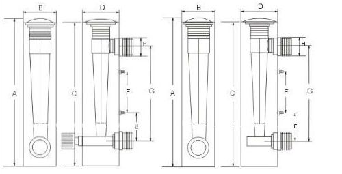 Glass Tube Flow Meter Acrylic Panel Mounted Flowmeter with Regulating Valve