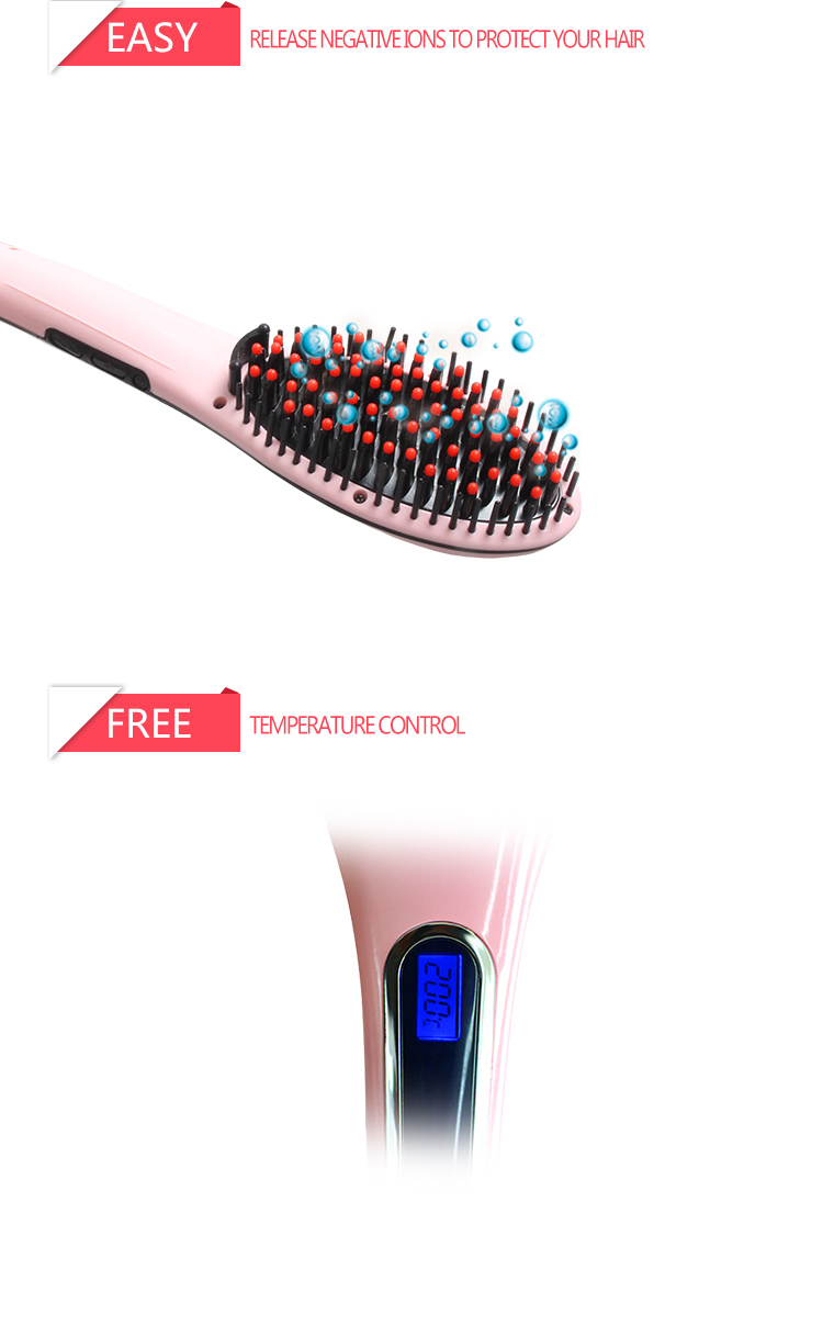 Best Selling Ufree Electric Hair Straightening Comb Professional Hair Straightener